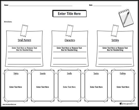 Personal Narrative Worksheet 4
