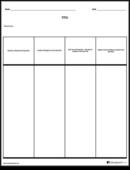 Open Response Columns