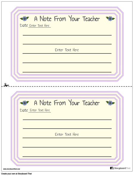 Parent Teacher Notes 1