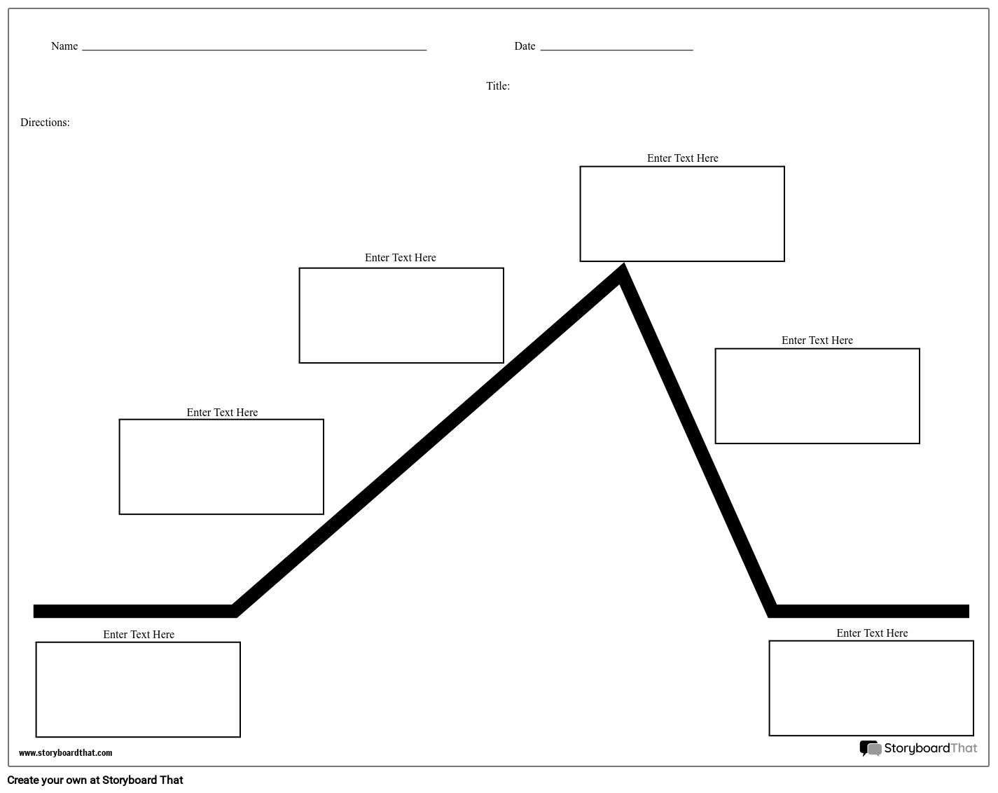 Create a Plot Diagram Worksheet | Plot Diagram TemplatesStoryboard That
