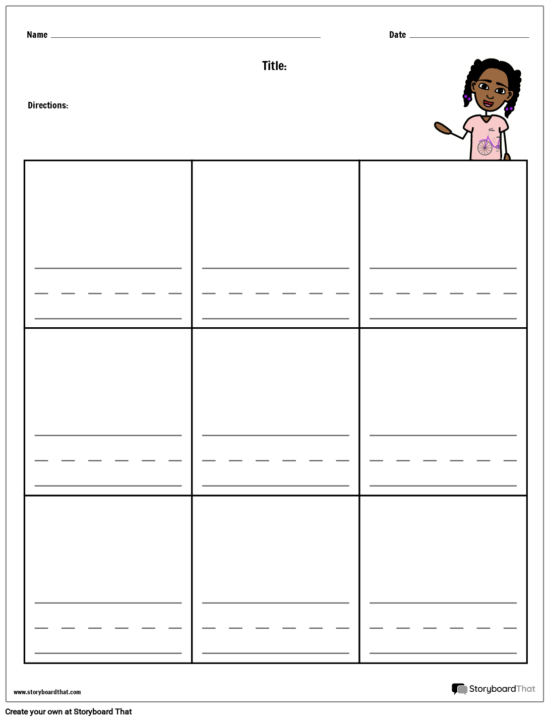 Writing Practice Template from cdn.storyboardthat.com