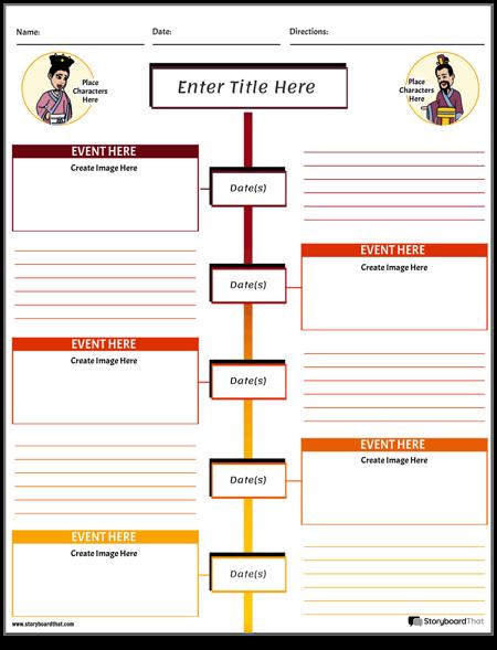 Social Studies Timeline Worksheet Color Portrait