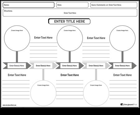 Social Studies Timeline Worksheet Spokes Black and White