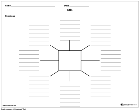 Spider Map with Lines - 8