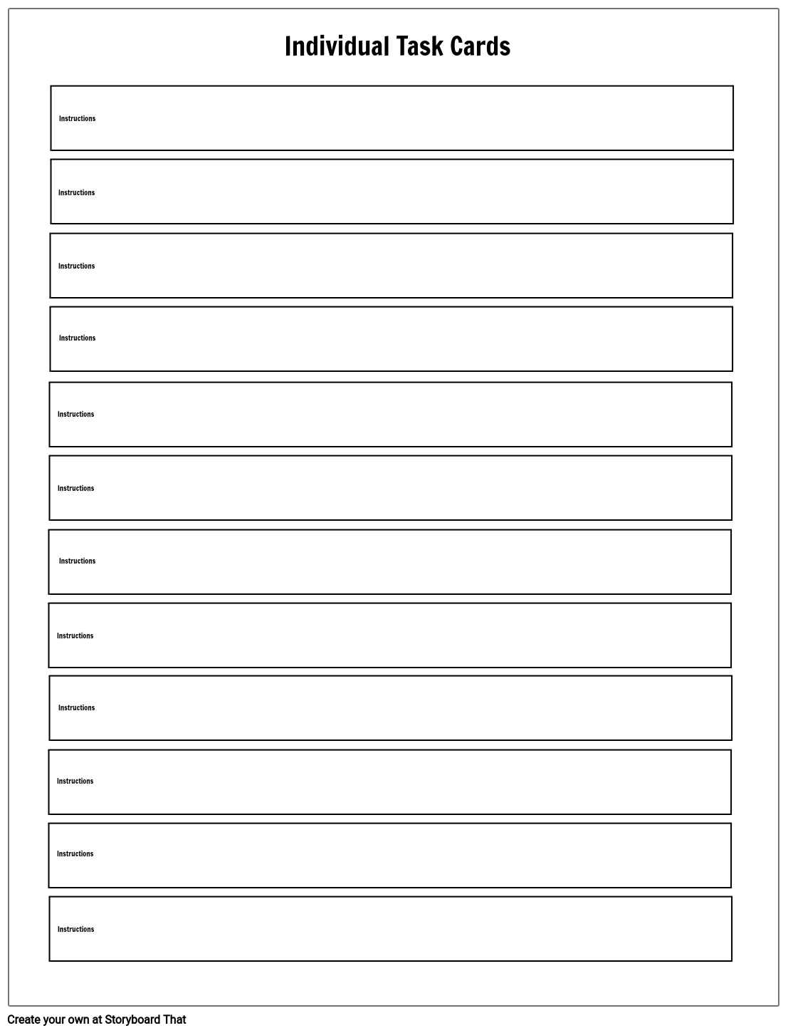 Task Card Template