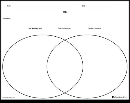 Venn Diagram Template - Landscape