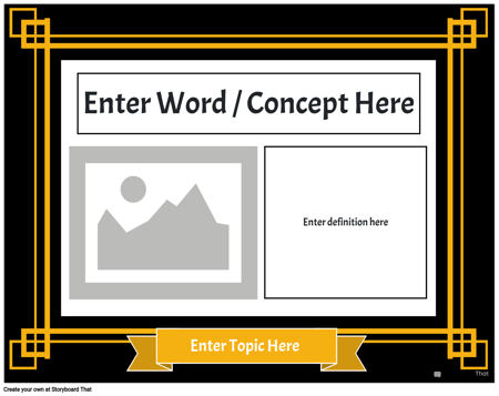 Word Wall 3, Template